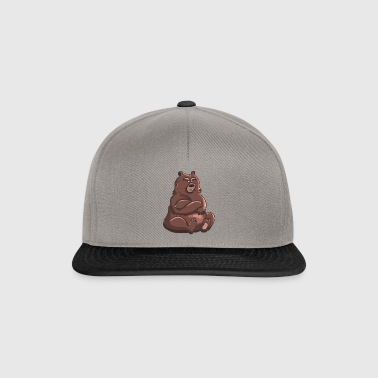 nalle teddy baer grizzly brunbjörn Black Bear - Snapbackkeps