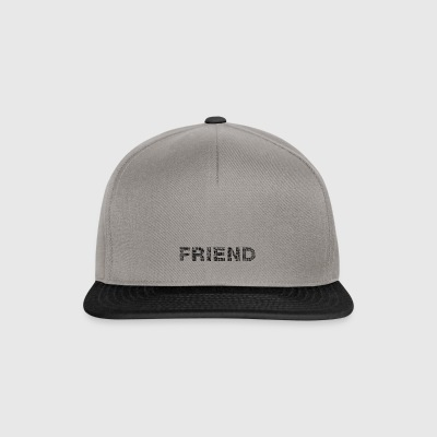 Friend lettering black - Snapback Cap