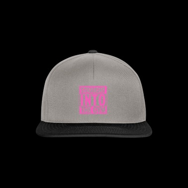 Straight Into The Gym Logo pink - Snapback Cap