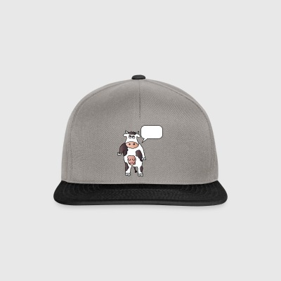 Cow + wish text Your text Cows Dairy farmers - Snapback Cap