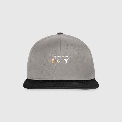 simple man like boobs bier beer titten karate kick - Snapback Cap