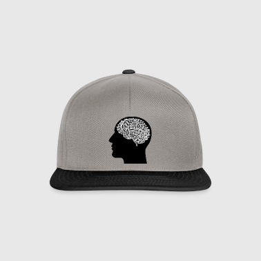 Male head (thoughts) - Snapback Cap