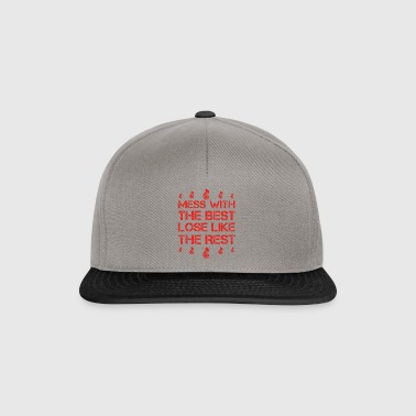 Mess with best loose king queen TUBA TRUMPET png - Snapback Cap