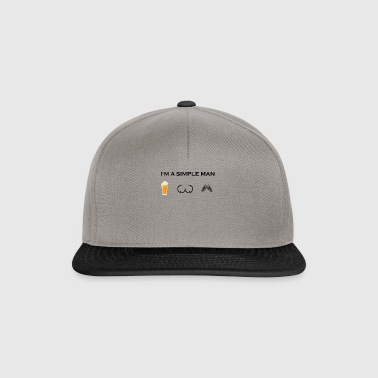simple man boobs beer beer tits chainsaw Chai - Snapback Cap