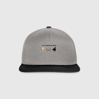 simple man boobs beer beer tits piano piano pn - Snapback Cap