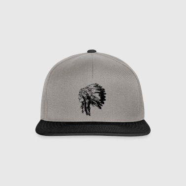 Indian face American Illustration - Snapback Cap