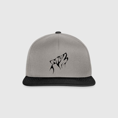 The howling wolf - Snapback Cap