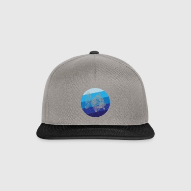 Stripey Sweetlips Fish Retro - Czapka typu snapback