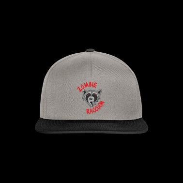 Funny cute scary zombie raccoon Red Edit - Snapback Cap