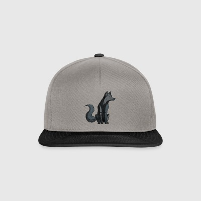 Loup Cyborg - Casquette snapback