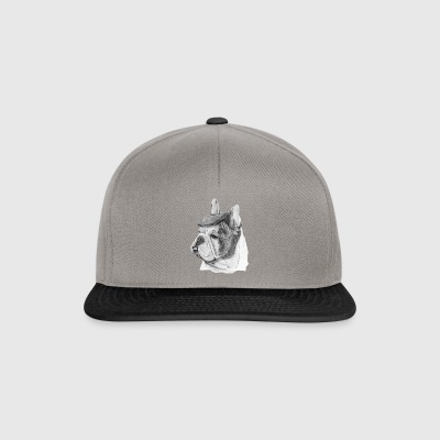 French Bulldog w / report - Snapback Cap