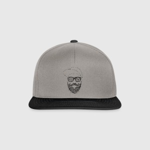 hipster Scribble - Snapback Cap