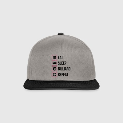 Eat Sleep Billiard Repeat - Snapback Cap