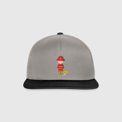 Firefighter bluswater rode gift - Snapback cap