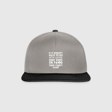 Video Games Food Anime Gift Nerd - Snapback Cap