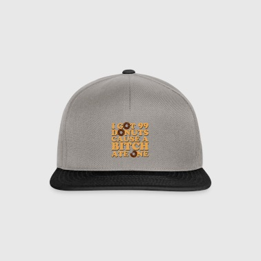 Donuts 99 Problems Eating Rappi lahja Satiiri - Snapback Cap