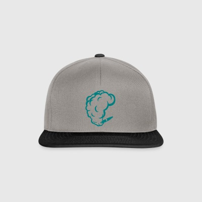smoking cigar cigarette smoke drawing 1710 - Snapback Cap