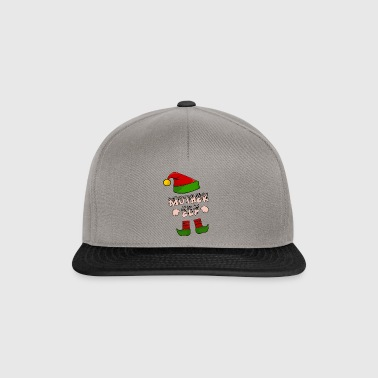 Mother Elf - Mom Elf - Christmas Gift - Snapback Cap