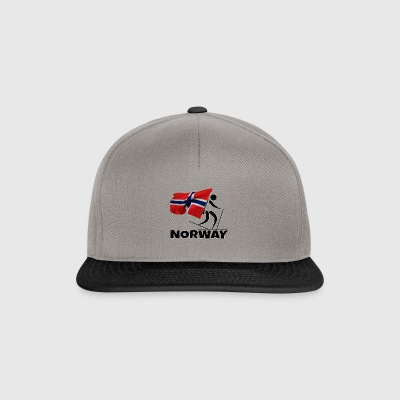 Biathlon with heart in Norway as a gift - Snapback Cap