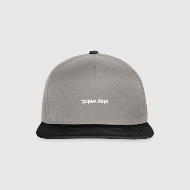 Stay Weird White - Snapback Cap