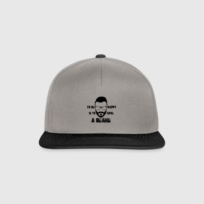 To be happy is to have a beard - Snapback Cap