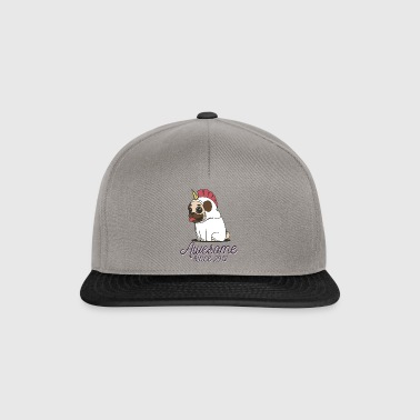 Awesome sinds 2012 | Funny Unicorn Pug - Snapback cap