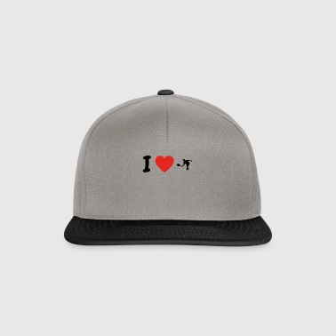 I love tennis tennis court player png - Snapback Cap