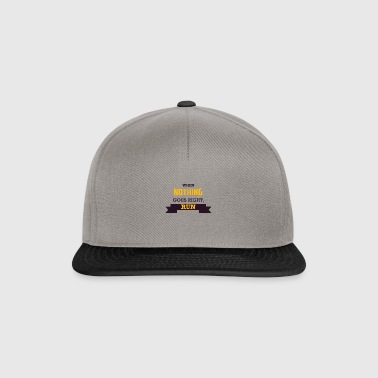 WHEN NOTHING GOES RIGHT, RUN - Snapback Cap