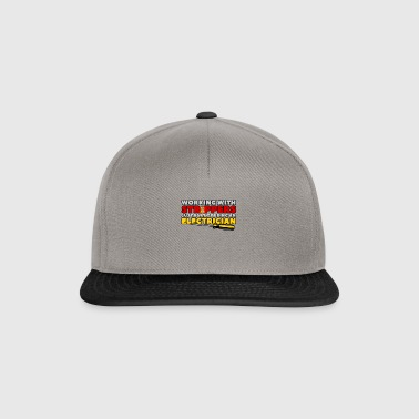 WORKING WITH STRIPPERS - ELECTRICIAN - Snapback Cap