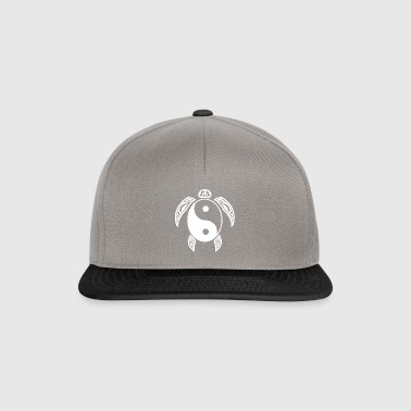 Yin Yang Turtle White Light & Dark Balance Symbol - Snapback Cap