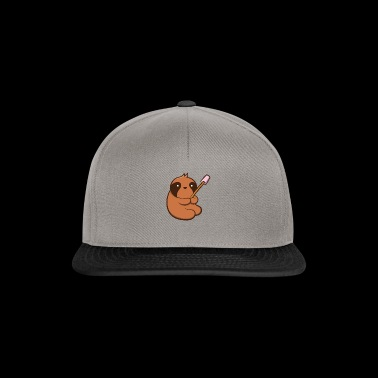 Sloth love marshmallows! | Funny Faultier - Snapback Cap