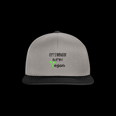 Get Stronger with Vegan Tee Shirt - Snapback Cap