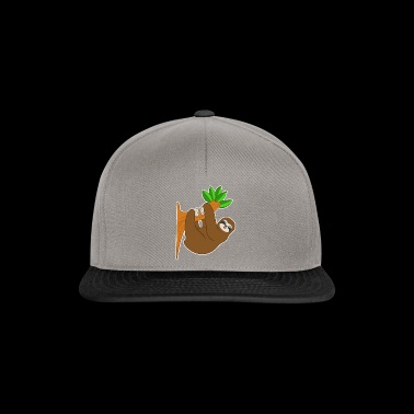 Laziness smile hug brown gift idea - Snapback Cap