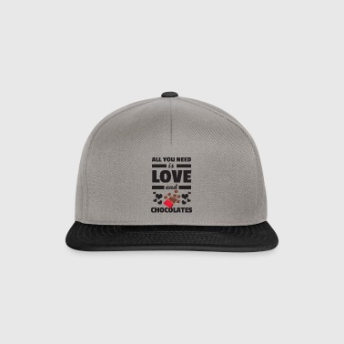 Awesome All You Need is Love and Chocolates Shirt - Snapback Cap