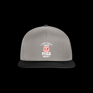 Cute I Just Really Like Pigs Okay? T-shirt - Snapback Cap