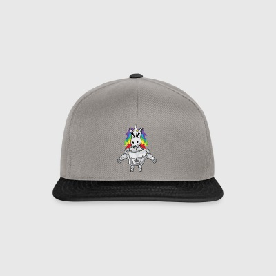 Unicorn with muscles - Snapback Cap