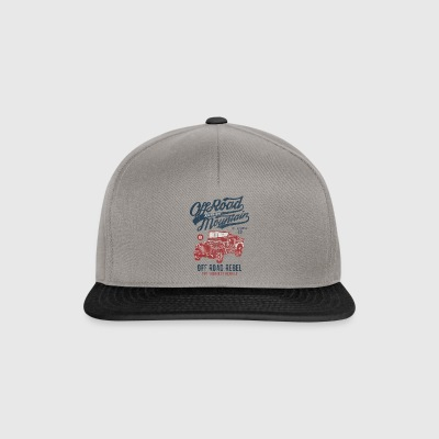 ADVENTURE JEEP - Off Road Jeep Shirt Motif - Snapback Cap