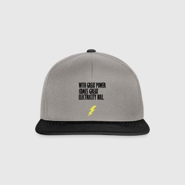 electricity bill yellow - Snapback Cap