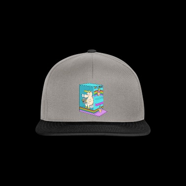 Ice cream unicorn summer soft ice toilet toilet - Snapback cap