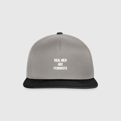 Real Men Are Feminists White - Snapback Cap