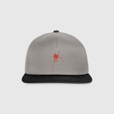 Blood spatter Halloween costume disguise - Snapback Cap