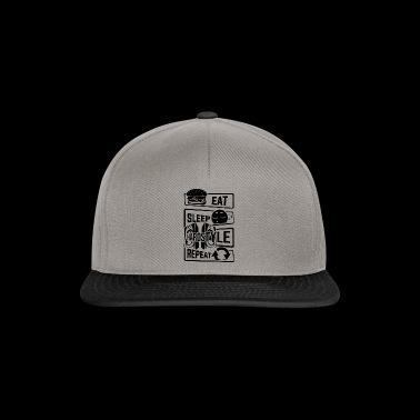 Eat Sleep Hardstyle Repeat - Bass Party Dancing - Snapback Cap