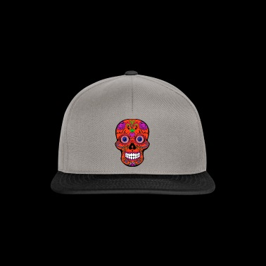 Colorful skull with bloody eyeballs Halloween - Snapback Cap
