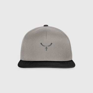 Print necklace with cross silver - Snapback Cap