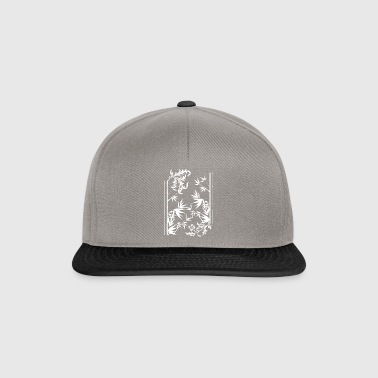 floral bambus wite - Snapback-caps