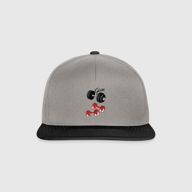 gym with weights - Snapback Cap