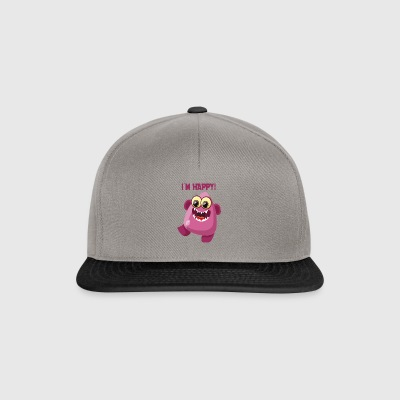 Jag är glad monster - ordstäv Monster Collection - Snapbackkeps