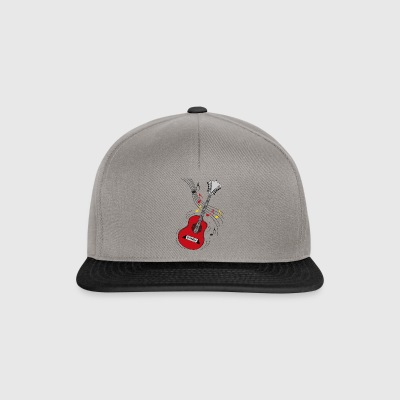 red guitar - Snapback Cap