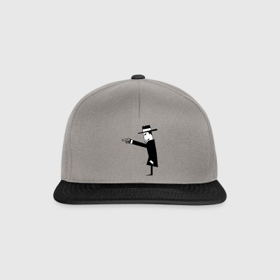 black spies with hat suit - Snapback Cap