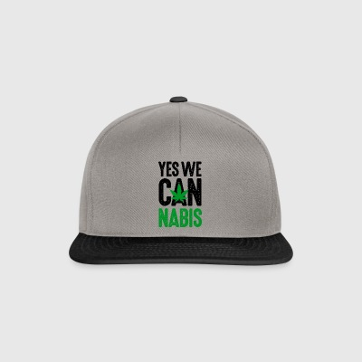 Yes we cannabis marijuana grass hemp legalize it! - Snapback Cap